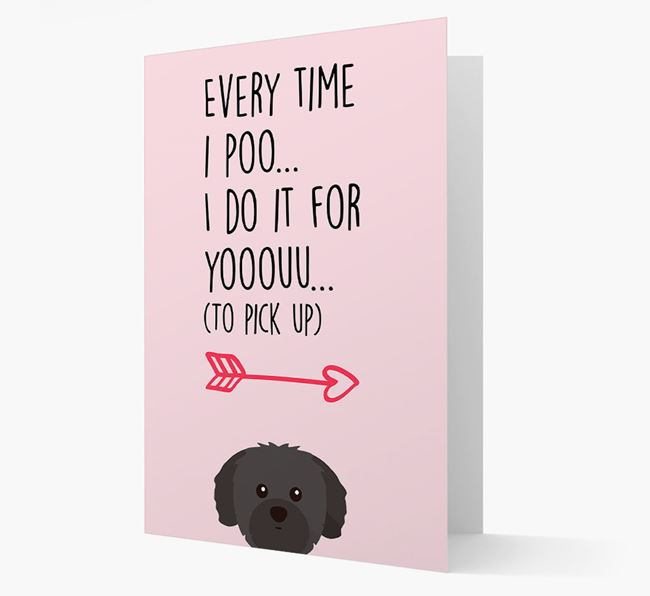 'Everytime I Poo...' Card with your Shih Tzu Icon