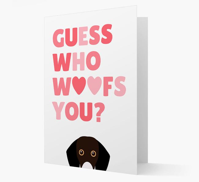 'Guess Who Woofs You?' Card with your Bassador Icon