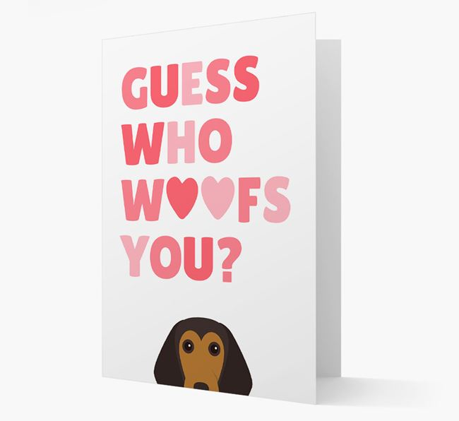 'Guess Who Woofs You?' Card with your Beagle Icon