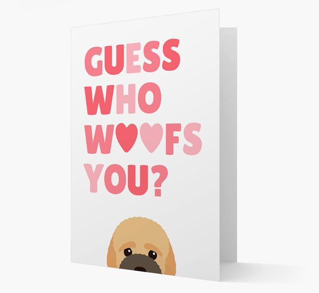'Guess Who Woofs You?' Card with your Bich-poo Icon
