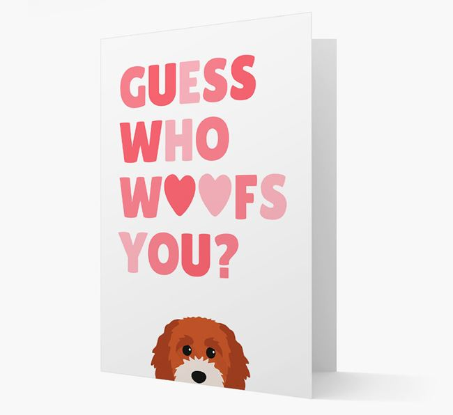 'Guess Who Woofs You?' Card with your Cavapoochon Icon