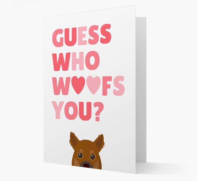 'Guess Who Woofs You?' Card with your Chihuahua Icon