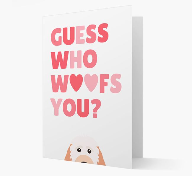 'Guess Who Woofs You?' Card with your Cockapoo Icon