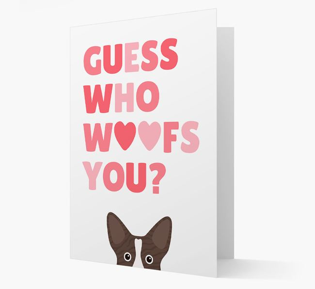 'Guess Who Woofs You?' Card with your Corgi Icon