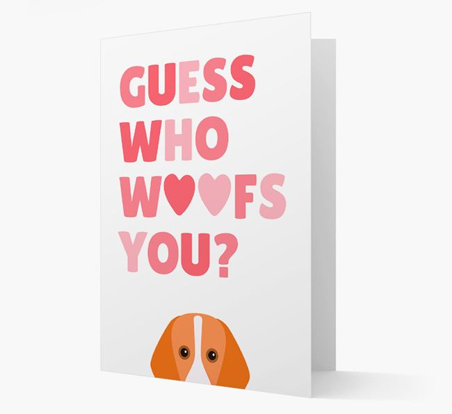 'Guess Who Woofs You?' Card with your Foxhound Icon