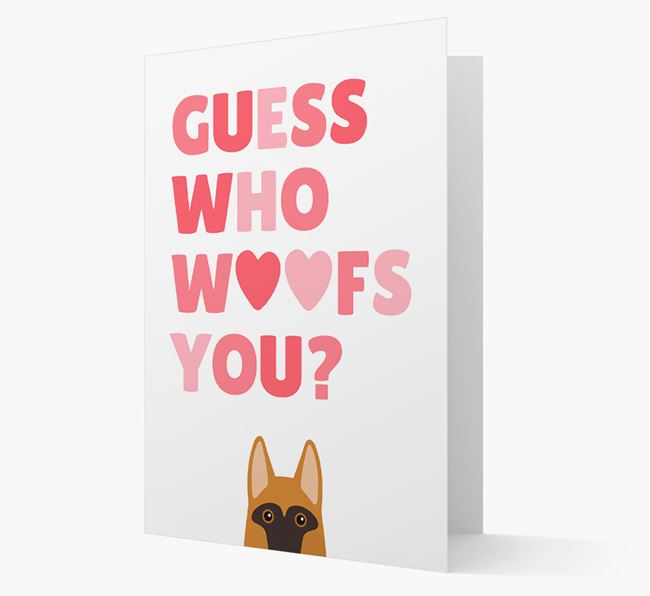 'Guess Who Woofs You?' Card with your German Shepherd Icon