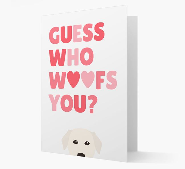 'Guess Who Woofs You?' Card with your Golden Labrador Icon