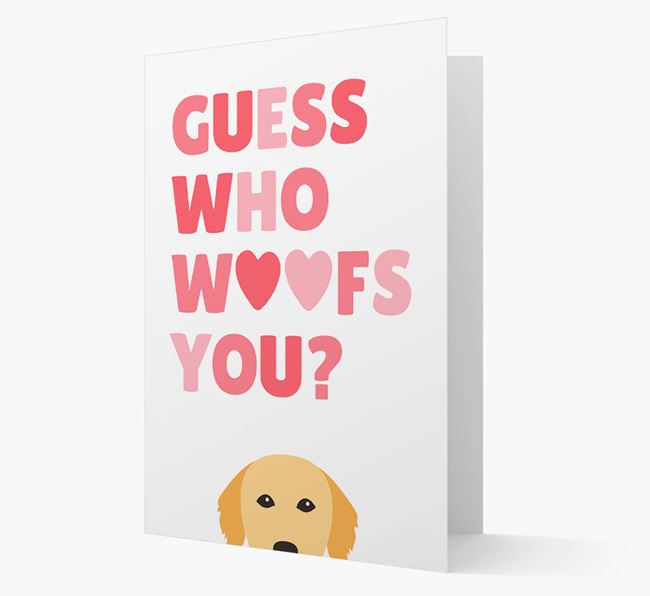 'Guess Who Woofs You?' Card with your Golden Retriever Icon
