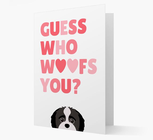 'Guess Who Woofs You?' Card with your Jack-A-Poo Icon