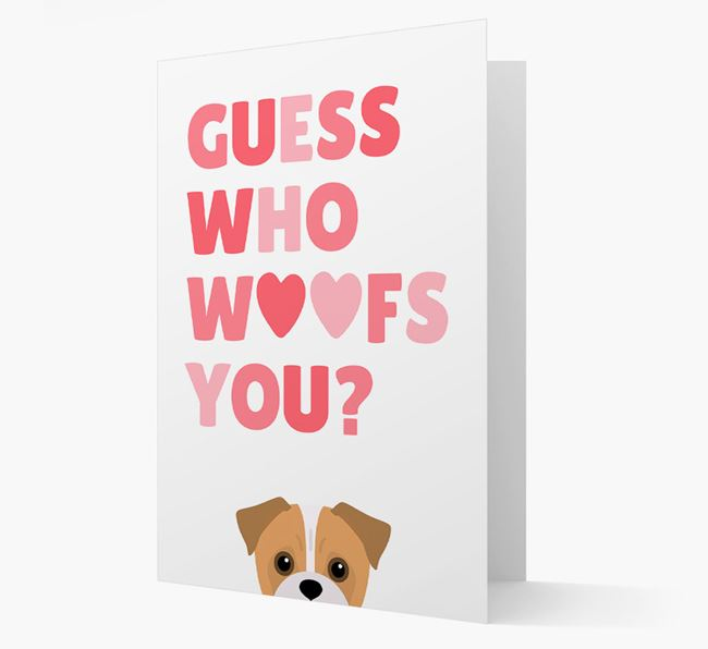 'Guess Who Woofs You?' Card with your Jug Icon