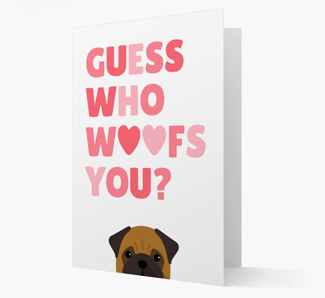 'Guess Who Woofs You?' Card with your Pug Icon