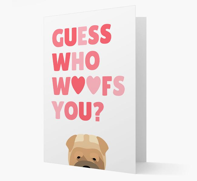 'Guess Who Woofs You?' Card with your Dog Icon