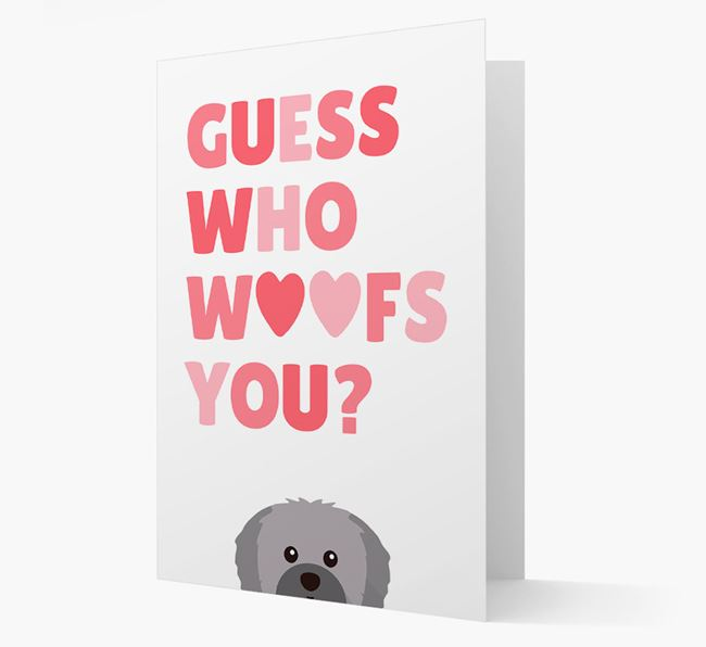 'Guess Who Woofs You?' Card with your Shih Tzu Icon