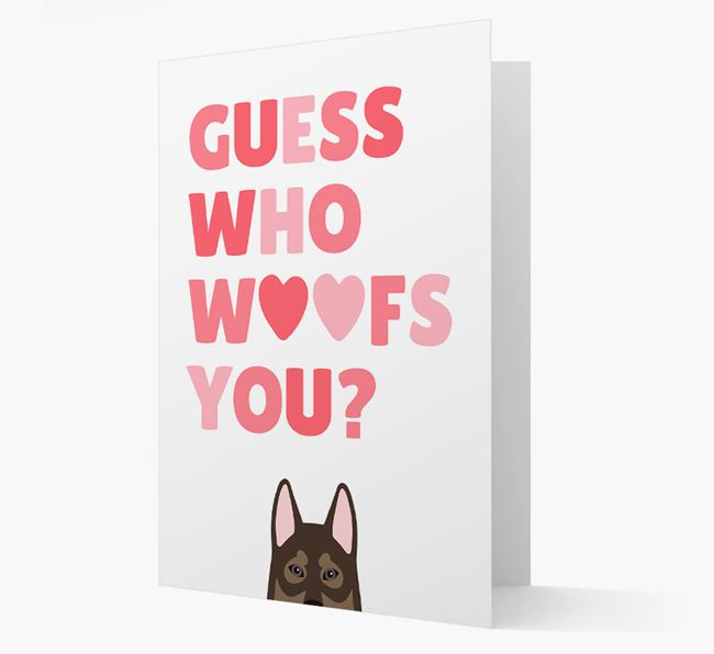 'Guess Who Woofs You?' Card with your Tamaskan Icon