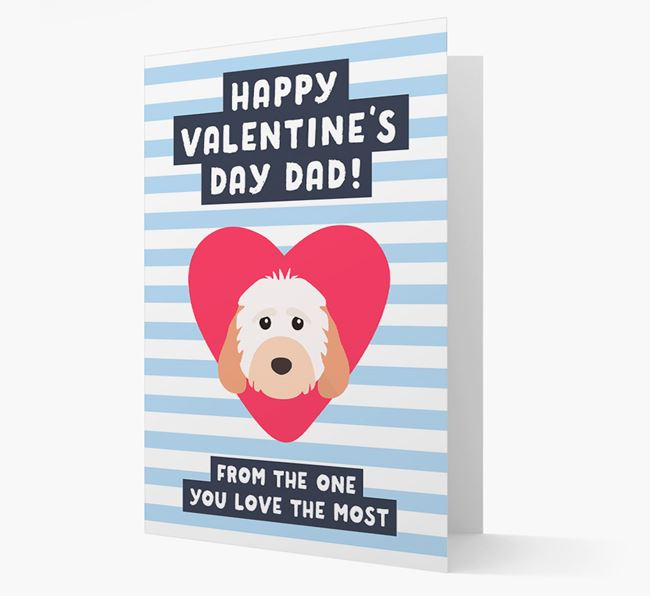 'Happy Valentine's Day Dad' Card with your Cockapoo Icon
