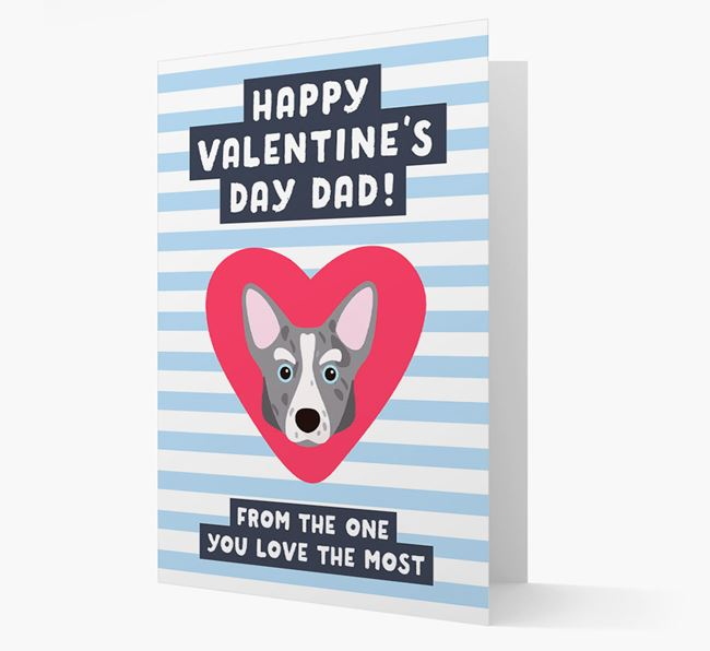 'Happy Valentine's Day Dad' Card with your Corgi Icon