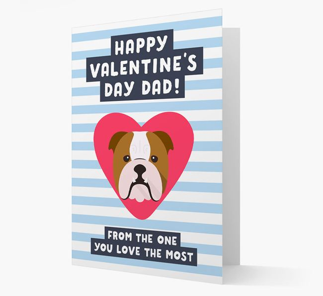 'Happy Valentine's Day Dad' Card with your Dog Icon