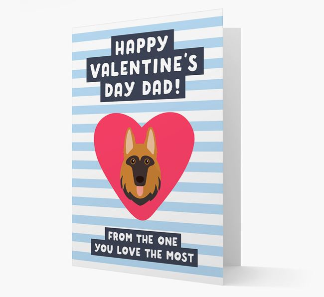 'Happy Valentine's Day Dad' Card with your German Shepherd Icon