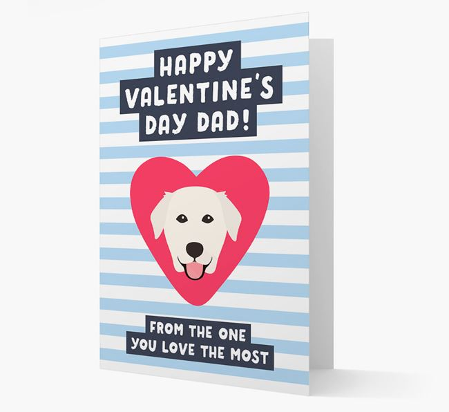 'Happy Valentine's Day Dad' Card with your Golden Labrador Icon