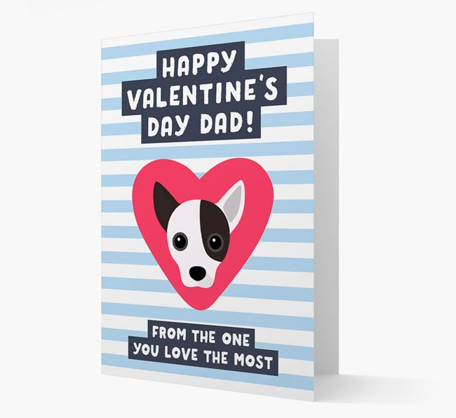 'Happy Valentine's Day Dad' Card with your Jackahuahua Icon