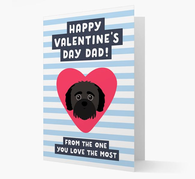 'Happy Valentine's Day Dad' Card with your Jack-A-Poo Icon