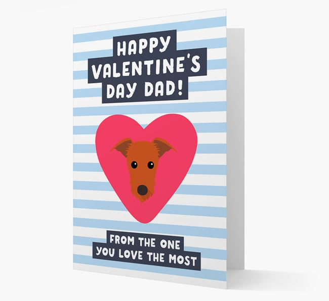 'Happy Valentine's Day Dad' Card with your Lurcher Icon