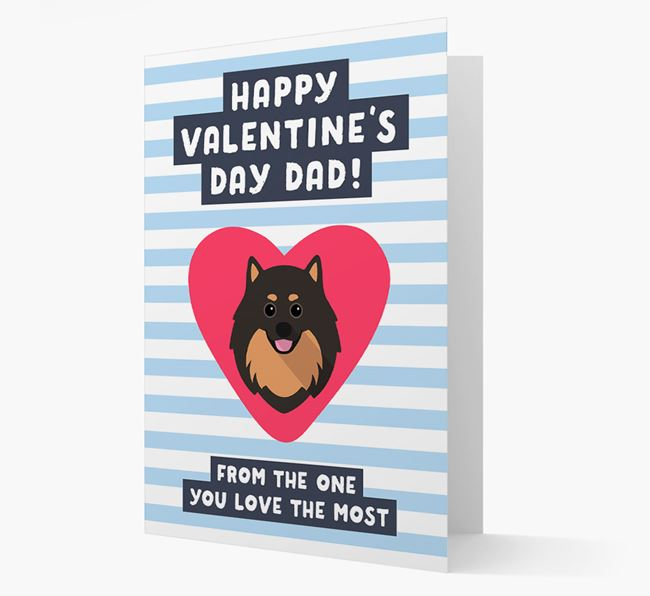 'Happy Valentine's Day Dad' Card with your Pomeranian Icon