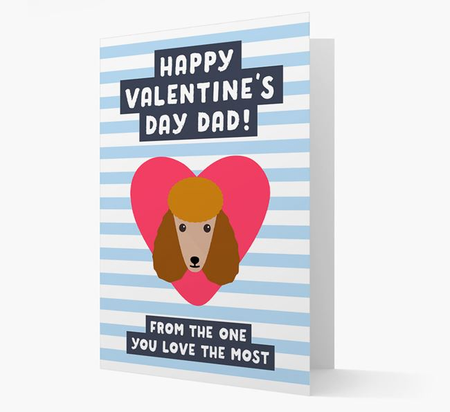 'Happy Valentine's Day Dad' Card with your Poodle Icon
