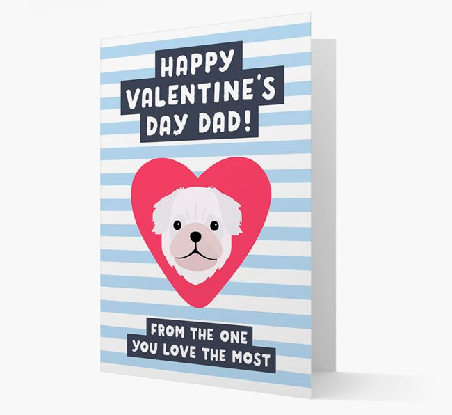 'Happy Valentine's Day Dad' Card with your Pug Icon