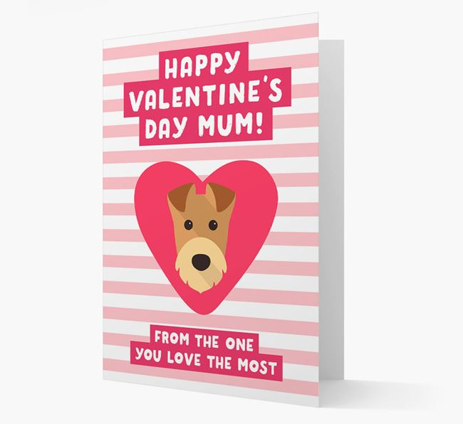 'Happy Valentine's Day Mum' Card with your Airedale Terrier Icon