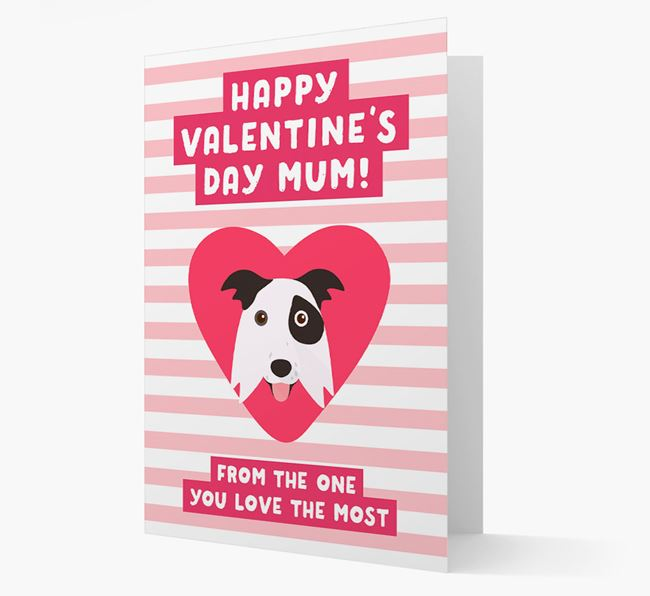 'Happy Valentine's Day Mum' Card with your Border Collie Icon
