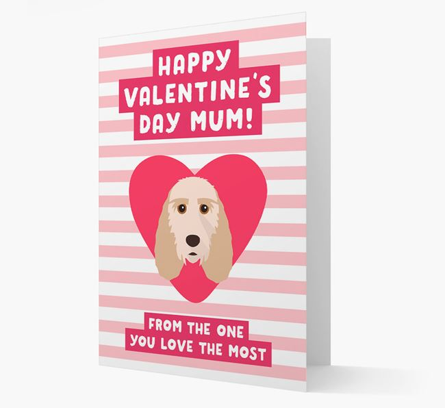 'Happy Valentine's Day Mum' Card with your Grand Basset Griffon Vendeen Icon