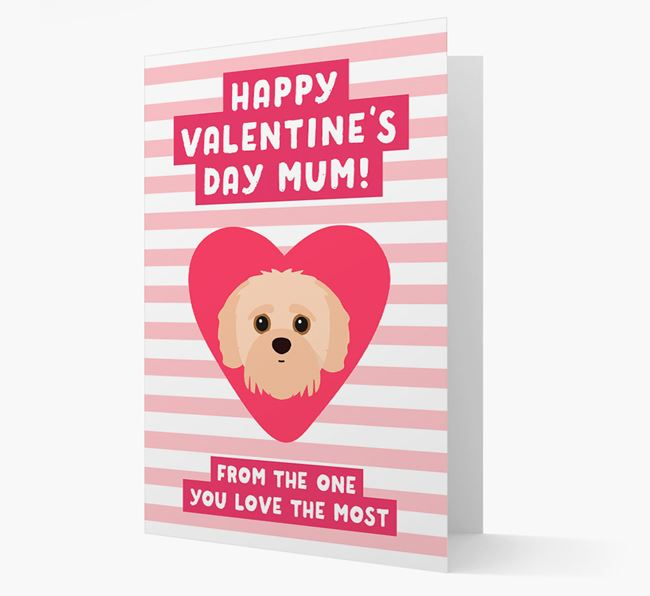 'Happy Valentine's Day Mum' Card with your Jack-A-Poo Icon