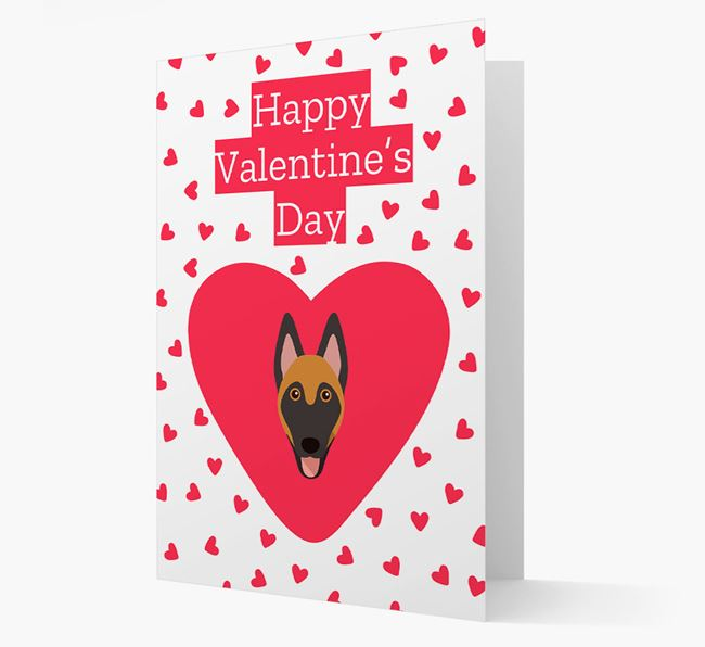 'Happy Valentine's Day' Card with your Belgian Malinois Icon