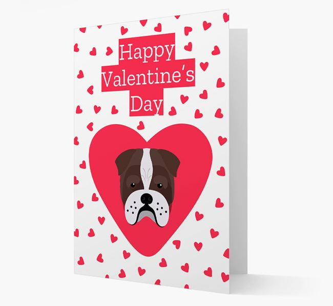 'Happy Valentine's Day' Card with your Bull Pei Icon