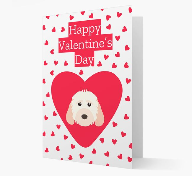 'Happy Valentine's Day' Card with your Cockapoo Icon