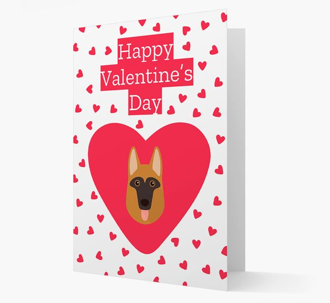 'Happy Valentine's Day' Card with your Dog Icon