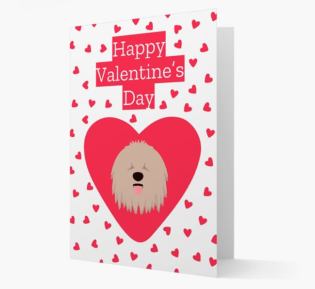 'Happy Valentine's Day' Card with your Komondor Icon