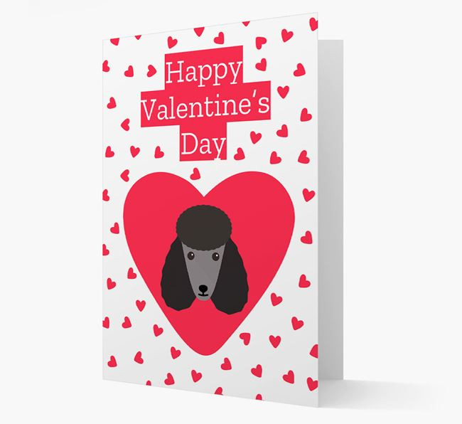 'Happy Valentine's Day' Card with your Poodle Icon