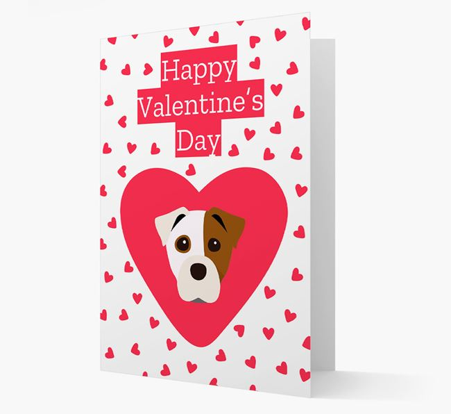 'Happy Valentine's Day' Card with your Staffy Jack Icon
