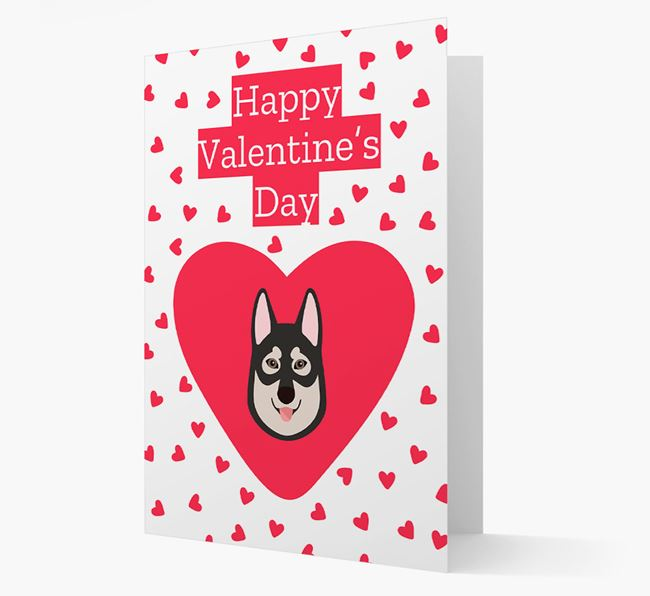 'Happy Valentine's Day' Card with your Tamaskan Icon