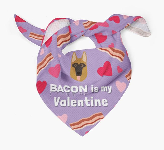 'Bacon is my Valentine' Bandana with Dog Icon