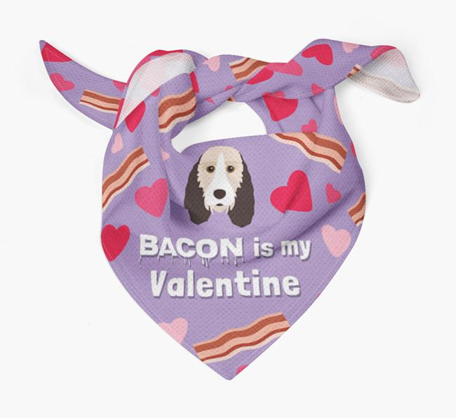 'Bacon is my Valentine' Bandana with Grand Basset Griffon Vendeen Icon
