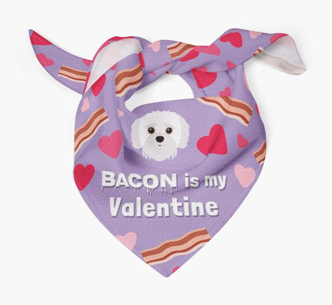 'Bacon is my Valentine' Bandana with Jack-A-Poo Icon