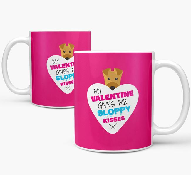 Airedale Terrier 'My Valentine Gives Me Sloppy Kisses' Mug