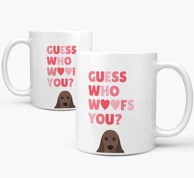 'Guess Who Woofs You' Mug With American Cocker Spaniel Icon