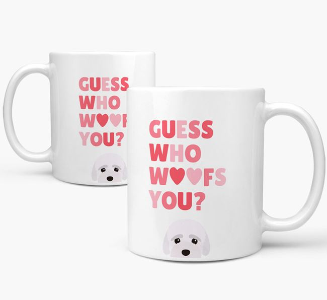 'Guess Who Woofs You' Mug With Bich-poo Icon