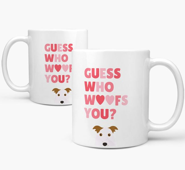 'Guess Who Woofs You' Mug With Border Collie Icon