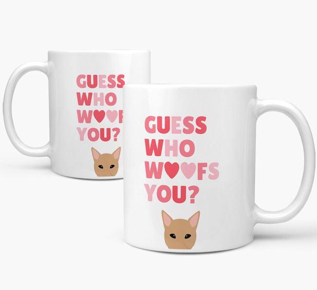 'Guess Who Woofs You' Mug With Canaan Dog Icon