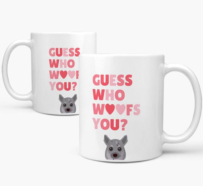 'Guess Who Woofs You' Mug With Chihuahua Icon